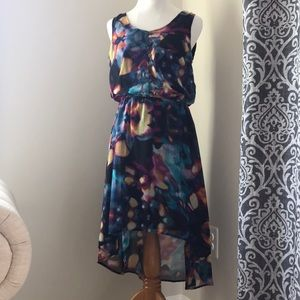 Mossimo hi-low multi-colored dress